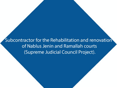 Subcontractor For The Rehabilitation & Renovation Of Nablus Jenin & Ramallah Courts